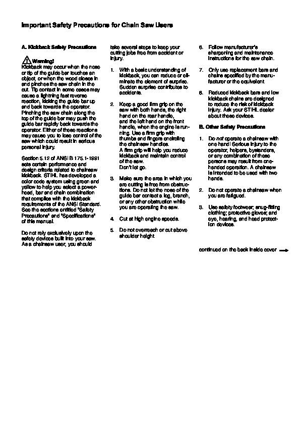 Stihl 026 Repair Manual download