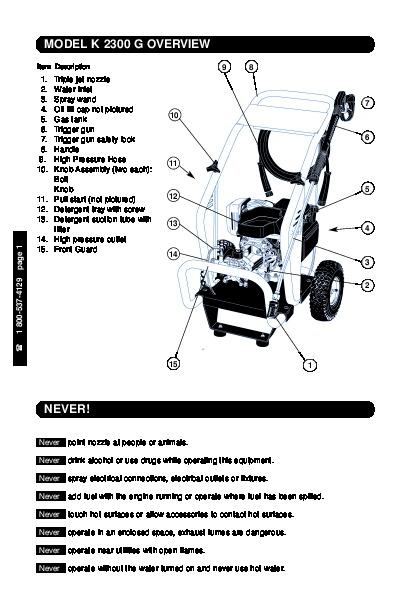 Karcher k2 87 Manual