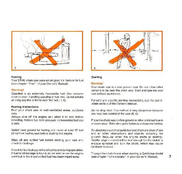 Stihl Chainsaw 032 parts manual