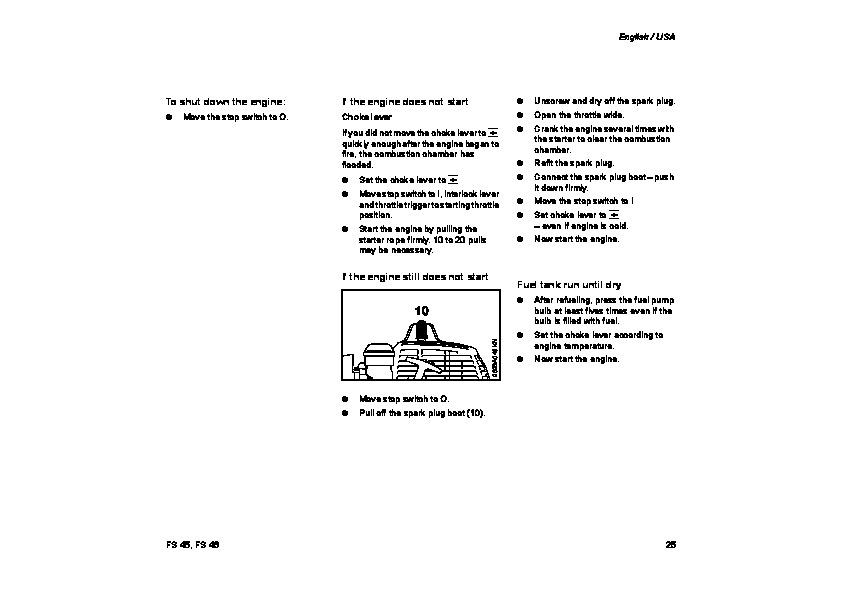 Stihl Fs45 trimmer manual