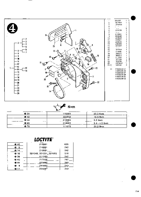 Owner manual mac 140 Chainsaw