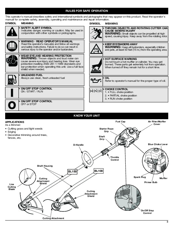 Bolens Lawn Tractor owner S manual
