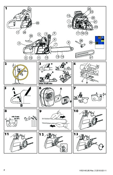 Husqvarna 55 chainsaw Manual