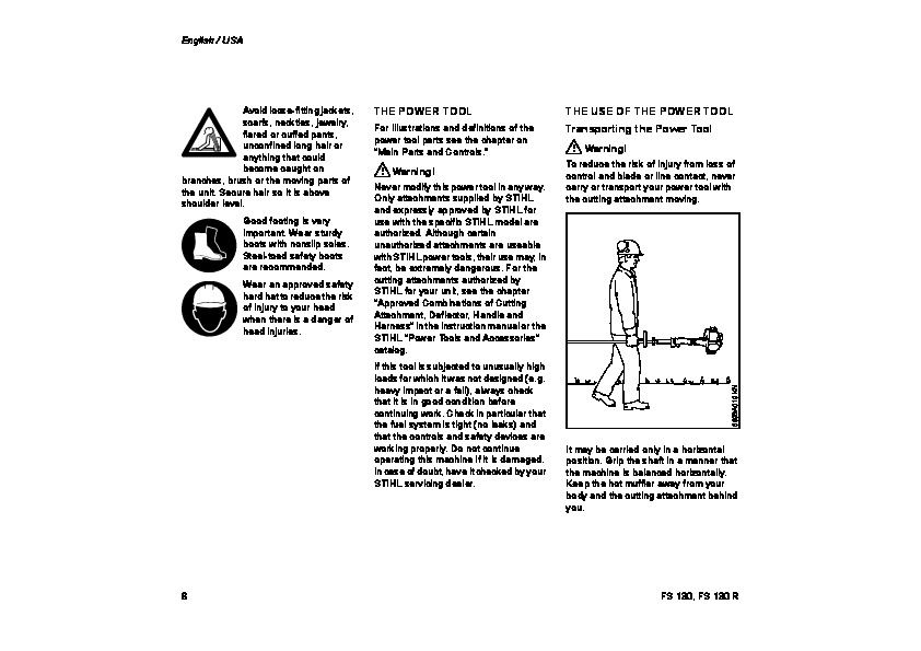 Stihl Fs 130 service Manual