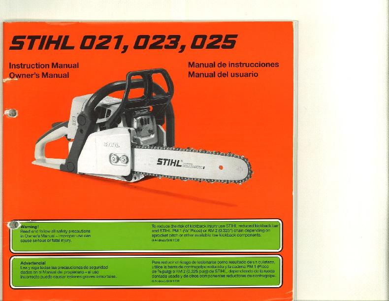 Stihl 011av repair Manual