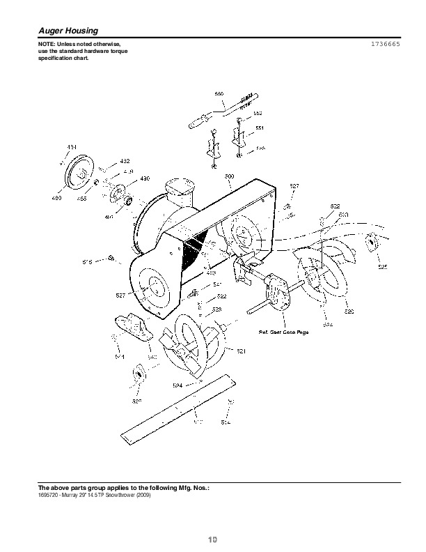 Murray Snow Thrower Manual F2484020