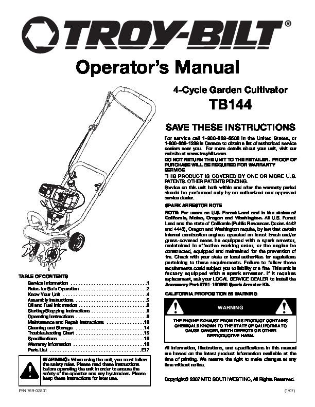 Yardman 42 mower manual