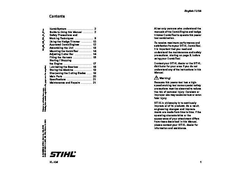 Fs 66 Stihl service manual