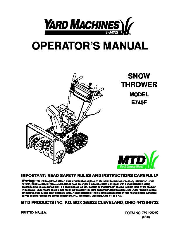 Mtd Repair Manual for Transaxle