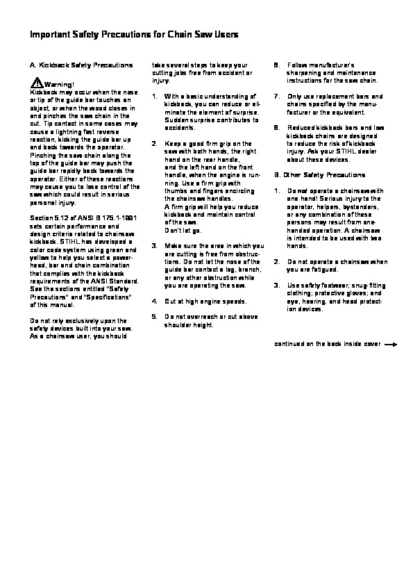 Stihl bg85c repair Manual