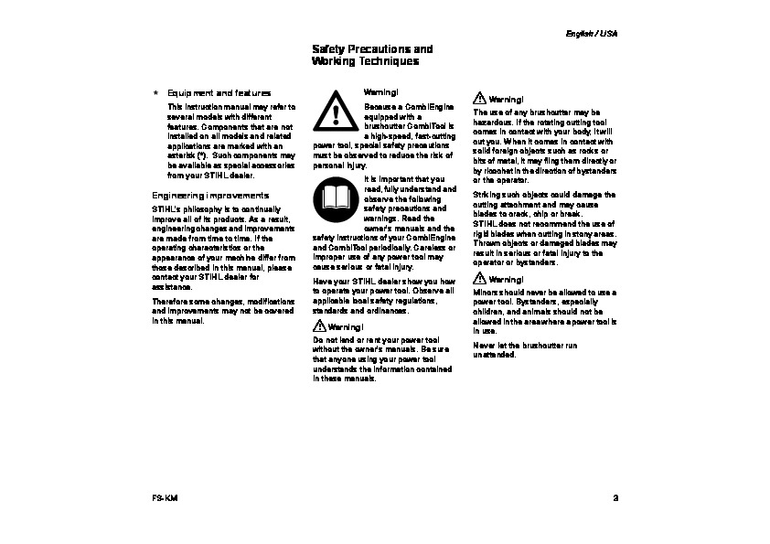 Km 1525 User manual