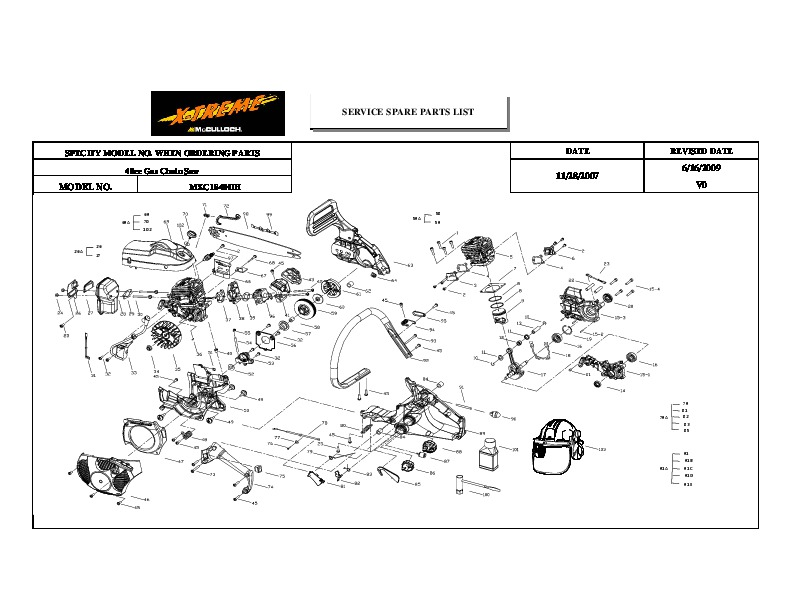 Stihl parts Manual Fs 85