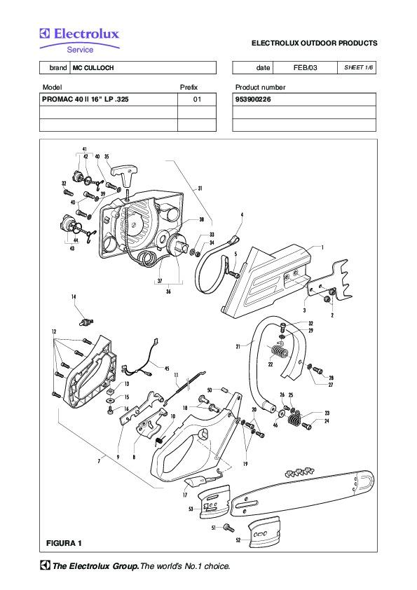 Mcculloch Promac 805 chainsaw Manual