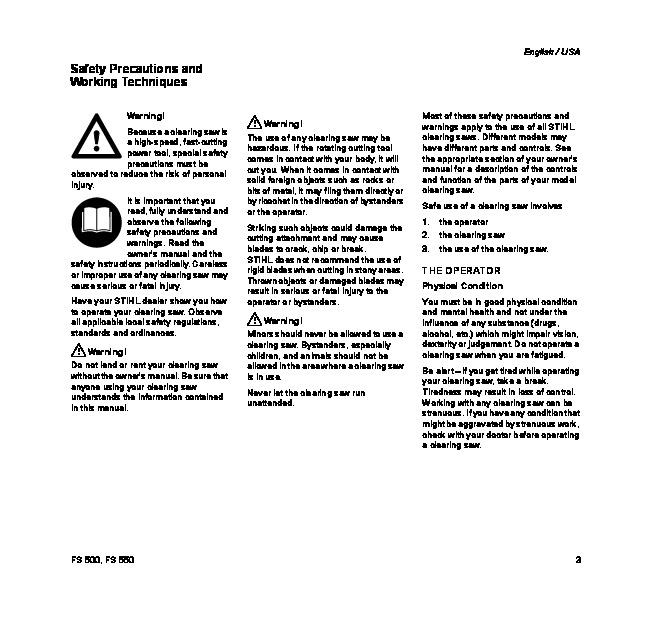 Stihl Ts700 service manual