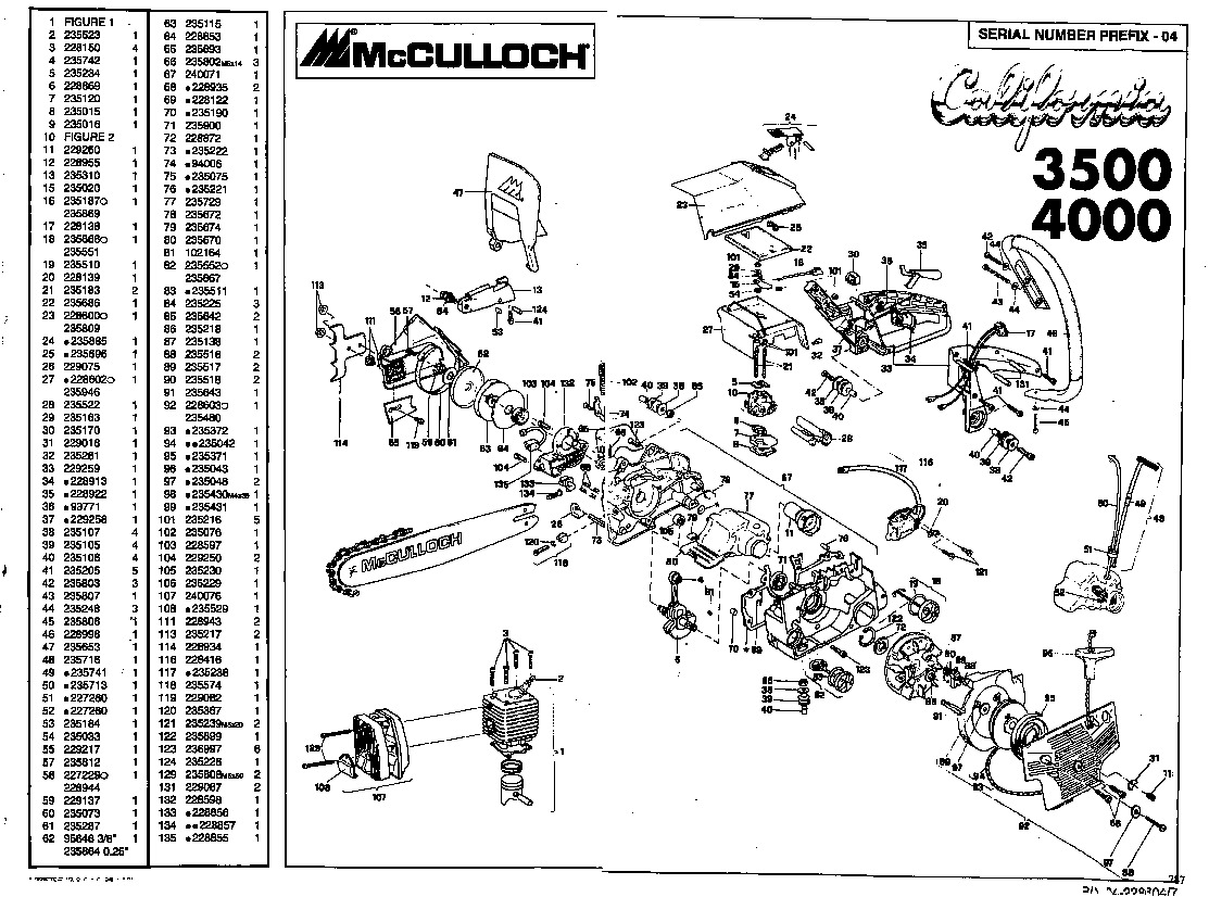 Sears Craftsman Chainsaw Parts Diagram Not Lossing Wiring Mcculloch Auto Old 530037793