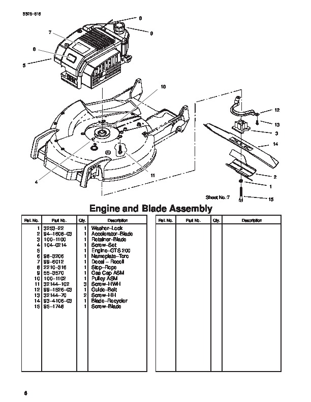 Parts manual For Toro lawn Mower Wheel Drive repair