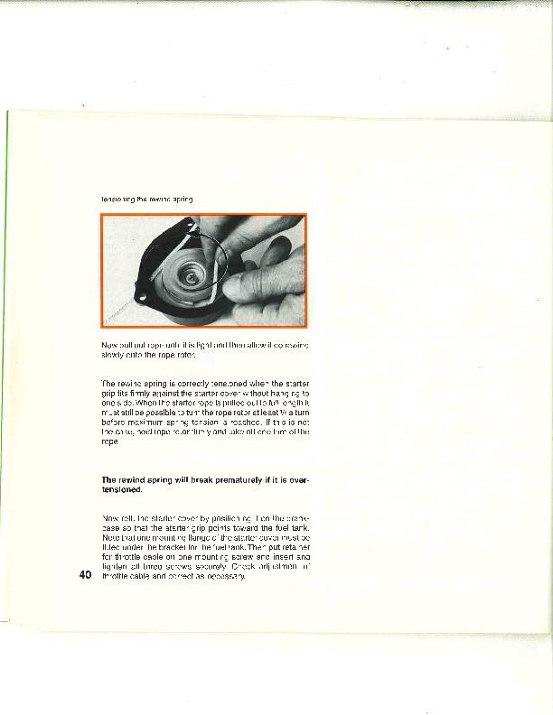 Stihl fs 108 Trimmer manual