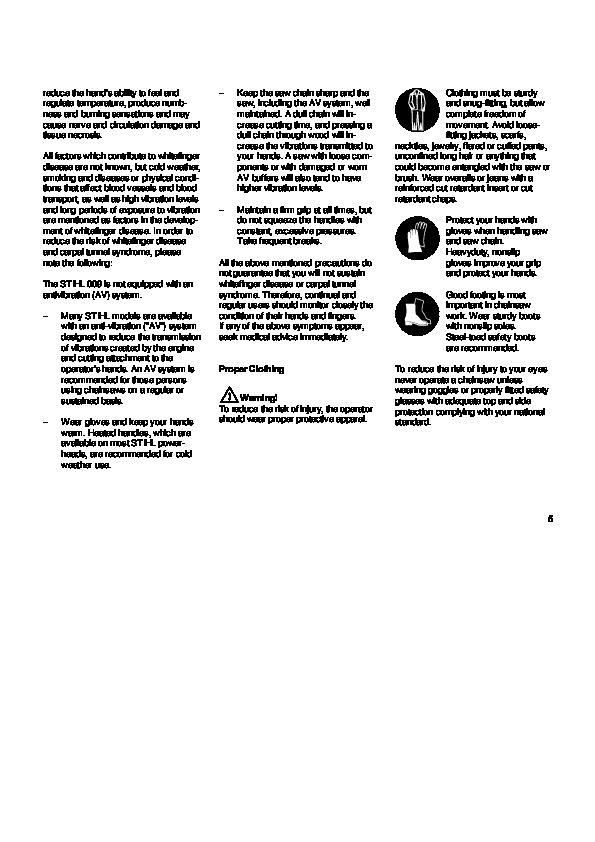 Stihl 009 Chainsaw parts Manual