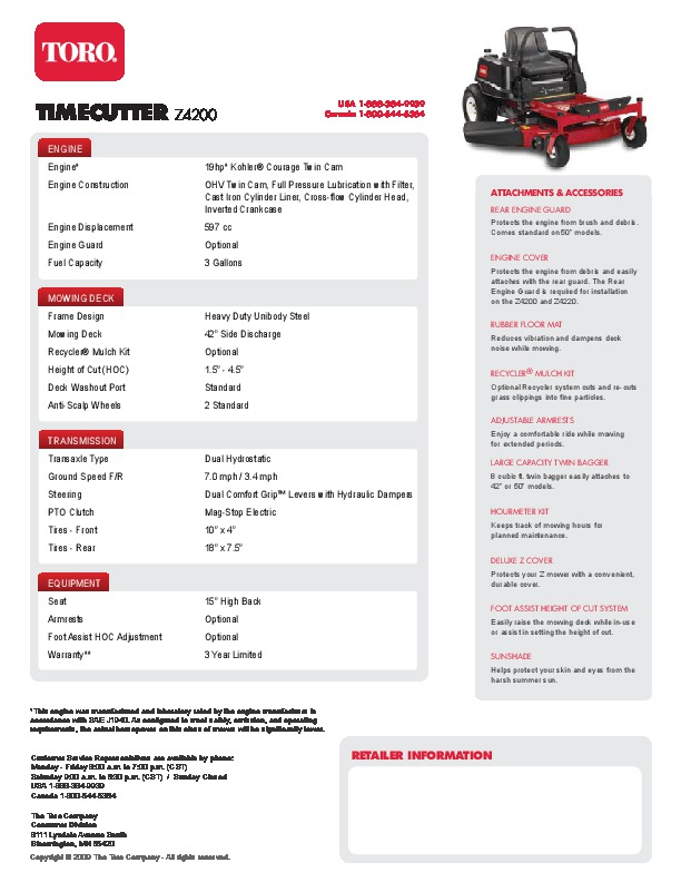Toro Time cutter repair Manual