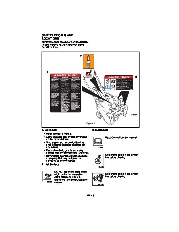 Owner manual ariens 1332