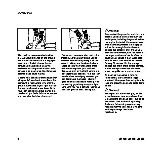 Stihl ms 390 Parts manual